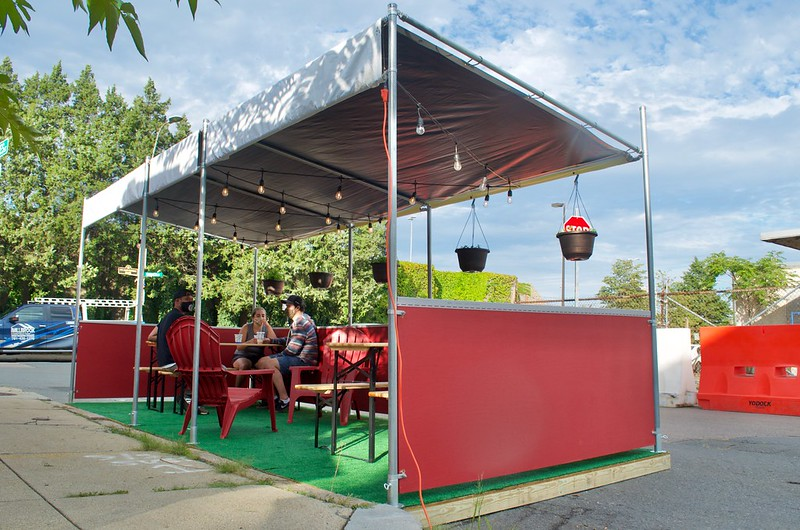 Image of Tawakal outdoor seating parklet