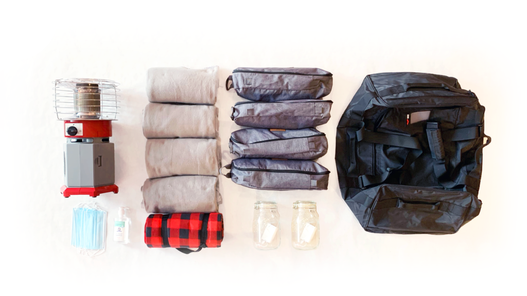 photo of winter kit contents